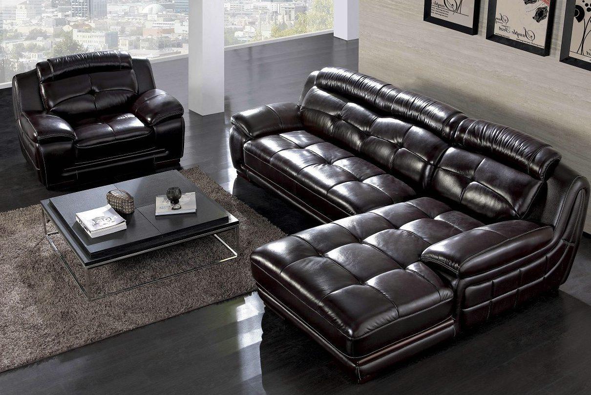 Офисная мягкая мебель из кожи