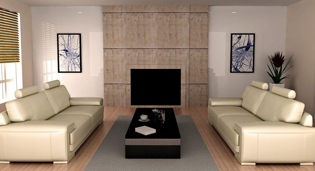 Симметричное расположение мебели