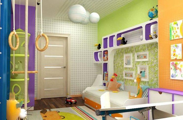 Детская комната со спортивным уголком